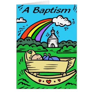"Card:  ""A BAPTISM"""