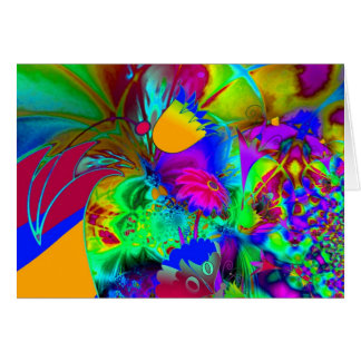 Card Abstract Art Floral Explode