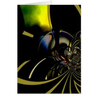 Card Abstract Art Gold Green Reaction