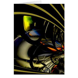 Card Abstract Art Gold Green Reaction 2