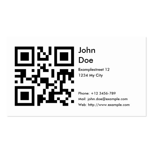 Card (address, phone, email, web) business card