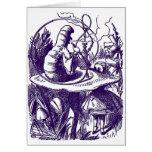 Card: Alice in Wonderland Caterpillar & Hookah