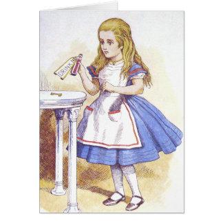 Card: Alice in Wonderland - Drink Me Card