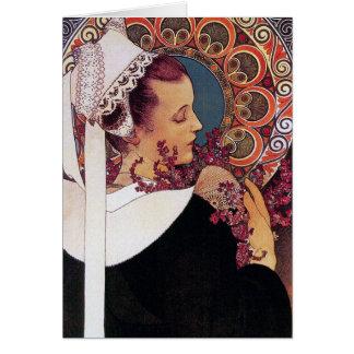 Card: Alphonse Mucha - Art Nouveau Card