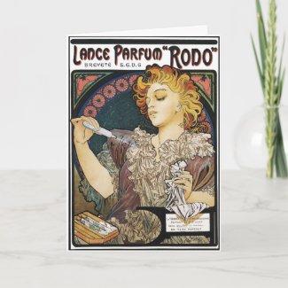 Card: Alphonse Mucha- Lance Parfum