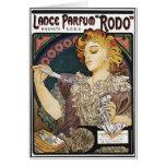 "Card: Alphonse Mucha- Lance Parfum ""Rodo"""