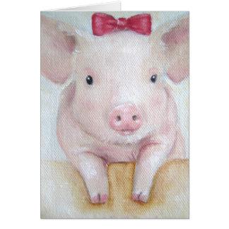 Card/Animal- Baby Pig Card
