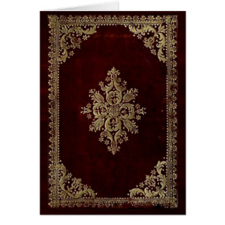 Card - Antique Book - Victorian Style