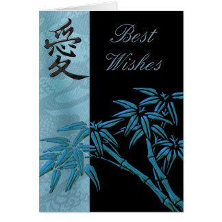Card Asian Bamboo Best Wishes or Birthday