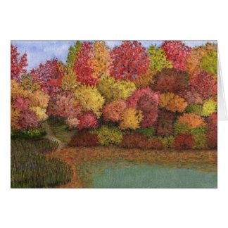 Card- Autumn scene Card