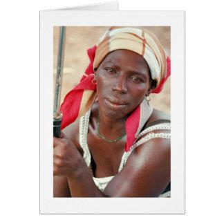"Card, ""Banana Seller, Banjul, Gambia, West Africa"""