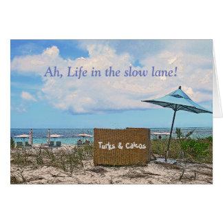 card/BEACH SCENE/BEACH UMBRELLAS/LIFE IN SLOW LANE Card