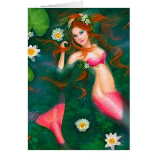 Card Beautiful mermaid