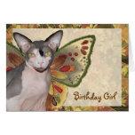 Card | Birthday Girl Cat Fairy
