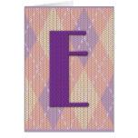 Card (blank)- initial E