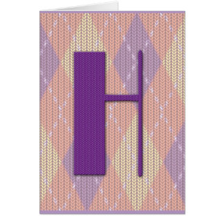 Card (blank)- initial H