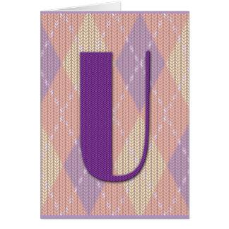 Card (blank)- initial U