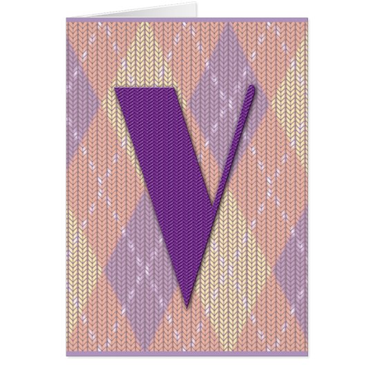 Card (blank)- initial V