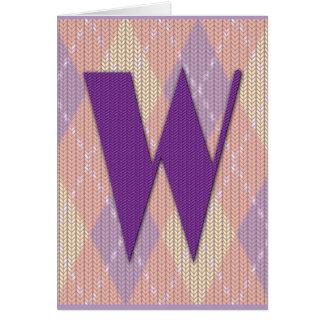 Card (blank)- initial W