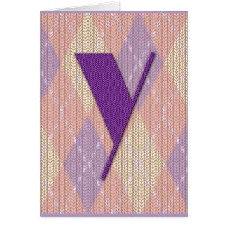 Card (blank)- initial Y