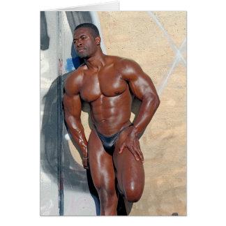 Card, bodybuilder Jean SCUTT, # 58A Greeting Card
