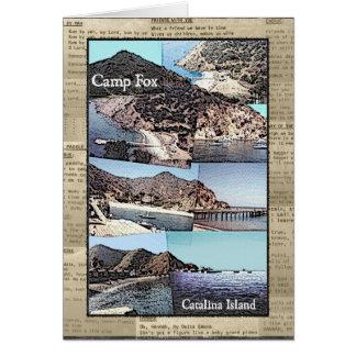 Card: Camp Fox Photos with Song Lyrics