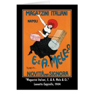 Card: Cappiello Advertising Art~Magazzini Italiani Card