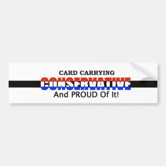 Card Carrying Conservative Bumper Sticker