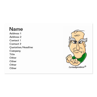 """Card-Carrying Curmudgeon"" Business Cards"