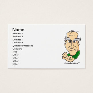 """""""Card-Carrying Curmudgeon"""" Business Cards"""