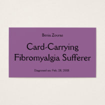 Card-Carrying Fibromyalgia Sufferer Card
