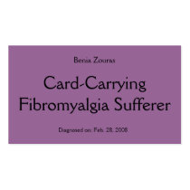 Card-Carrying Fibromyalgia Sufferer Card Double-Sided Standard Business Cards (Pack Of 100)