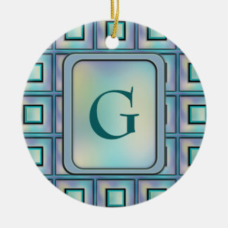 Card Catalog Ceramic Ornament