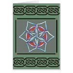 card- celtic snowflake by talkingfox greeting card