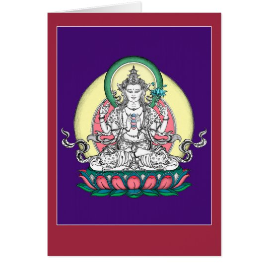 CARD Chenrezig / Avalokiteshvara with explanation