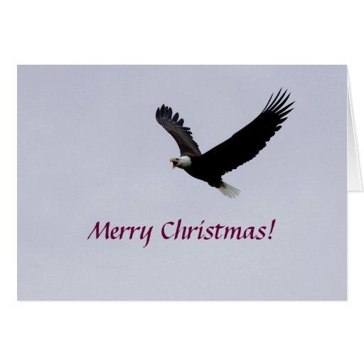 Card / Christmas Eagle in Flight