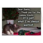 Card: Christmas Rat Dream Come True!