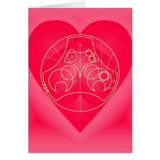 Card Circular Valentine - Golden