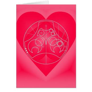Card: Circular Valentine - Silver Greeting Card
