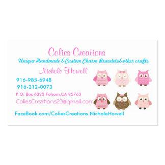 card Colies Creations Unique Handmade Custom Business Card Templates