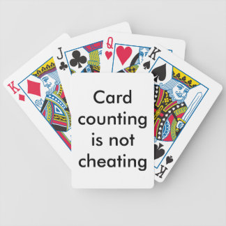 Card counting is not cheating bicycle playing cards
