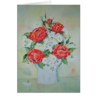 Card Daises and Roses