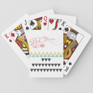 Card deck shrimps second hands