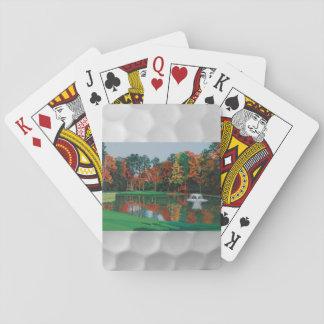 Card deck with a golfcourse fountain