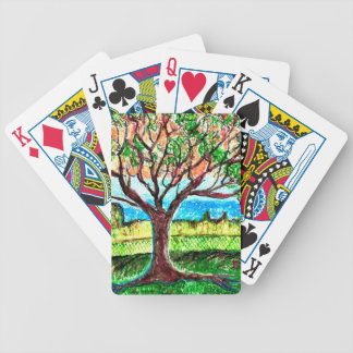Card Deck with Tree Art