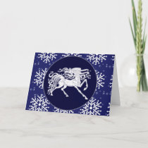 Card - Decorative Holiday Horse
