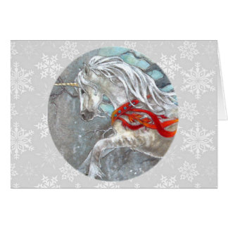 Card - Decorative Holiday Unicorn