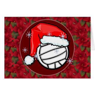 Card - Decorative Santa Volleyball