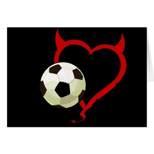 Card - Devilish Heart Soccer Ball