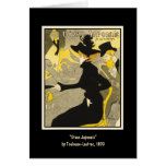 Card:  Divan Japonais by Toulouse-Lautrec